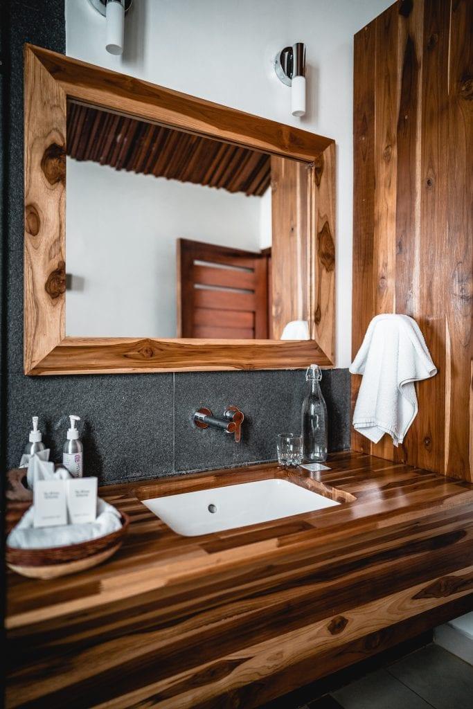 Deluxe King Room Sink Vanity in Teak